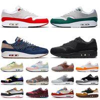 nike air max 1 2020 nik Top Quality 1 Mulheres Homens Running Shoes AirMaxAirMax OG aniversário Evergreen Aura Denham Triplo Preto Trainers Sneakers
