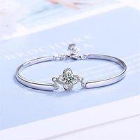 Charme Armbänder ZG Elegante 925 Sterling Silber Weibliche Armband Einfache Set Kleines frisches Design Kalt Wind Armbänder1