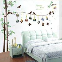 [Zoooyoo] 205 * 290 cm / 81 * 114in grande foto árvore adesivos de parede decoração de casa sala de estar quarto 3d parede decalques diy família murais 201106