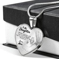 S1829 الأزياء والمجوهرات الحب قلادة القلب لابنتي الحب أبي الاثنين القلب pendnt قلادة