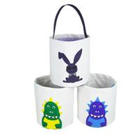 Kid Pâques Seauts mignon imprimé Pâques Bunny Panier Paniers pour enfants Enfant Sacs à papiers Enfant Sacs de vacances Sac à main Toy Sacs de rangement WY520DQDXP