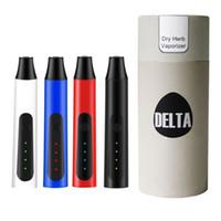정통 델타 허브 기화기 2200mAh 건조한 허브 vape 펜 스타터 키트 3 레벨 조정 가능한 온도 휴대용 DAB 펜
