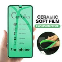 Verre trempé en céramique souple anti-explosion Nano pour iPhone 12 Mini 11 Pro Max x XS XR 8 7 6S 6 Plus SE 2020 Screen Protector Film No Packag