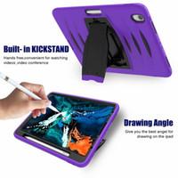 "Shockproof Tablet Fall für iPad 5/6/4 Pro Silikon PC Bleistifthalter Kids Fall für iPad 12.9"" Air 10,5"" Mini 4/3 Abdeckung 2020/2017/2018/2019"