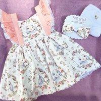 Easter Dress For Toddler Girls Festival Clothing Rabbit Print Backless Baby Girls Dresses Summer 2020 PartyDressForKidsGirl Q1223