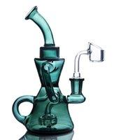 안경 물 봉지 Dab rigs 물 담뱃대 유리 물 파이프 리사이클 봉 Dabber 액세서리 14mm 그릇 SY650와 Shisha 애쉬 포수