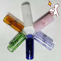 Filtro de vidro Tubo Dip Dicas OEM Personalizar ODM Logo Adesivos Fumar Tubos Fábrica Atacado Preço Envio