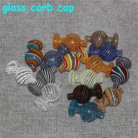 Tampão de vidro do tampão do carbo de vidro para a abóbada do banger do topo plana de 25mm com o prego do Banger de quartzo da pérola do buraco do ar