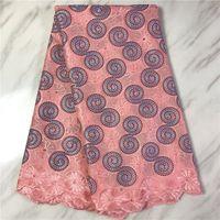 coton suisse tissu dentelle voile de dentelle embrodery tissu africain dentelle nigerian de haute qualité pour les femmes robe 5yards matériel