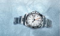 Ins İzle 40mm Beyaz Arama Paslanmaz Çelik Otomatik Saatler Bağımsız Olarak Tarihi 24 Saat Ayarlar Aydınlatmalı İşlevli Adam Saatı Aydınlık Montre de Luxe