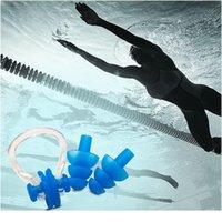 3 teile / satz Schwimmen Nase Clip Ohrstöpsel Set Wasserdichte Weiche Surfen Surfen Tauchen Schwimmbad Zubehör für Erwachsene und Jllsnj