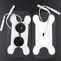 10pcs Dysphagie Electrode Electrode 2mm 2.5mm Type de queue Type de queue non tissée Physiothérapie auto-adhésif de gel de gel de la gorge de massage de la gorge 1