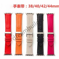 Moda Watchbands Apple Watch Band 42mm 38mm 40mm 44mm IWATCH 1 2 345 Bantlar Deri Kayış Bilezik Moda Stripes Ücretsiz Kargo