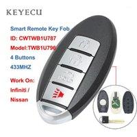 KeyeCU CWTWB1U787 Smart Car Remote Key FOB 4 Buttons 433MHz für Armada 2017-2018 für Infiniti Q70 M56 M37 M35, TWB1U7961