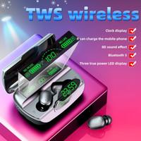 G6 TWS 5.1 Bluetooth Kulaklık Spor Kablosuz LED Ekran Kulak Kanca Koşu Kulaklık IPX7 Şarj Case Ile Suya Dayanıklı Kulakiçi Kulaklık MQ30