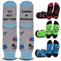Не беспокоить я игровая буква печатает чулок мультфильм носки Adulit спорт бегущий носок рождественский подарок CPA3262