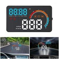 """رأس مستعمل عرض 4 """"العالمي للسيارة المحور OBD2 / GPS عرض سيارة العارض سرعة الزجاج الأمامي التنقل OBD سرعة متر HUD D25001"""