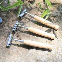 Otel travle Aracı için Erkekler Tıraş Düz Razor Tek Ağaç Sap Tıraş Salon Berber Tıraş Makinesi Manuel Tıraş