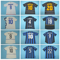 1990 1998 2003 Classic Milito Retro Jersey Retrour Soccer Baggio Batistuta Recoba Adriano Cambiasso Figo Emre Crepo Camisa de futebol Kits G-M