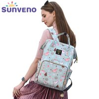 Sunen Sunen Mummy Fralta Saco Grande Capacidade Baby Bag Backpack Marca Maternidade Baby Baby Saco para Mom Y200107