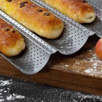 100٪ الغذاء الصف الكربون الصلب 4/2 الأخدود الموجة الفرنسية الخبز الخبز صينية للخبز الرغيف الفرنسي قالب أدوات عموم الخبز