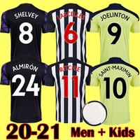 20 21 새로운 NUFC 홈 키트 축구 유니폼 Shelvey 2020 2021 Joelinton 축구 셔츠 Almiron Ritchie Gayle Men Kits 키즈 장비
