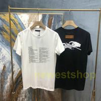 2021 New Summer Europe Designer Marke Mens Paris Strick Brief Druck T Shirts Top Qualität T-shirts Mode T-Shirt Frauen Casual Tee