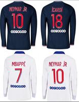 2020/21 Uzun Kollu Futbol Formaları Mbappe ICARD Draxler Maillots De Futbol Gömlek Neymar Jr Icardi Erkekler Futbol Üniformaları Futbol Gömlek