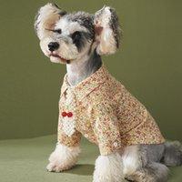 Trendy Blumen Hund Hemd Plüsch Blume Hemd Haustier Kleidung Welpenhemd Herbst Winterkleidung Teddy Schnauzer Bomei Chihuahua Kleidung