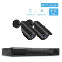 NVR 4CH 1080P فيديو مسجل أمن الوطن مراقبة 2PCS CCTV الأمن كاميرا لاسلكية نظام مراقبة الفيديو كيت في 1