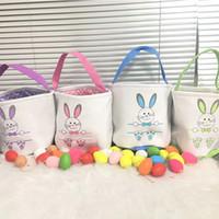 حزب عيد الفصح سلة قماش الدلاء شخصية أصلي الحقائب الأرنب هدية أكياس الأرنب الذيل حمل حقيبة 10 أنماط مزيج