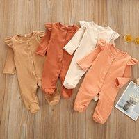 الرضع حديثي الولادة طفلة الصبي النائم رومبير ملابس أطفال وتتسابق مجموعة الشتاء سترة القفز ClothingX1019 وصول جديد