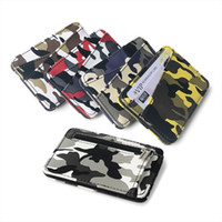 New Army Camouflage Mini Mens Leather Magic Wallet With Coin Pocket Slim Purse Money Clip Bag Bank Credit Card Card Cash Holder