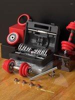 New Dumbbell Fitness Equipamento doméstico Ajustar peso combinação de uso duplo11