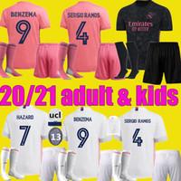 الرجال الاطفال 19 20 21 ريال مدريد لكرة القدم جيرسي مجموعات 2020 2021 سيرجيو راموس خطر جوفيك فينيكيوس بنزيما