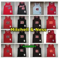Vintage Mens Chicagoan Mitchell Ness Swingman Jersey 23 45 Michael 33 Scottie Pippen 91 Dennis Rodman Dikişli Retro Basketbol Forması