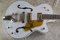 مصنع مخصص الصقر الأبيض 6120 شبه الجوف هيئة الجاز الأدوار الكورية الغيتار الكهربائي مع اهتزاز