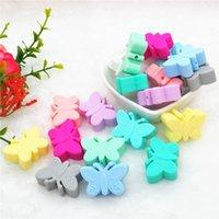 Chenkai 10 шт. BPA Бесплатные силиконовые бабочки Tehter Bears Diy Baby Душ для прорезывания зубов Montessori сенсорные игрушки для животных бусины аксессуары Y1221