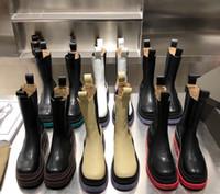 2021 디자이너 럭셔리 타이어 가죽 부츠 숙녀 발목 Haif Cowskin Chelsea Boot 가을 겨울 마틴 패션 캠프 신발 최고 품질 크기 35-42