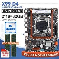 2400MHz DDR4 الذاكرة 2PCS X16GB = 32GB X99 مجموعة اللوحة الأم مع زيون E5 2620 V3 LGA2011-3 CPU