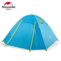 Naturehike 2/3/4 Человека Палатка Легкая Водонепроницаемая купольная палатка с алюминиевым сплавом и кольями, несущий мешок включен