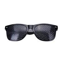 أسود للجنسين الرؤية رعاية دبوس ثقب العين ممارسة النظارات نظارات عالية الجودة البصر تحسين البلاستيك