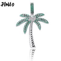 Jinao Mode gefror heraus Palme Cubic Zirkon Halskette aus Gold Silber Farbe überzog Hip Hop Schmuck für Männer-Frauen-Geschenk 201013