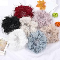 Bonito cor pura cor de cabelo elástico headband elegante corda cabelos garotas pano de pano brilhar cabelo cura acessórios q sqcysx