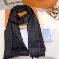 Heißer Verkauf Seide Goldgewinde Schal Mode Mann Womens 4 Seasons Schal Schal Schals Größe ca. 180x70cm 5 Farbe AIDEN