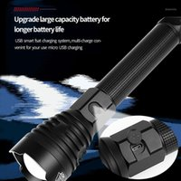 Lanternas tochas USB recarregável led potente tático 18650 26650 tocha xhp90 xhp70 pesca, caça lâmpada portátil11