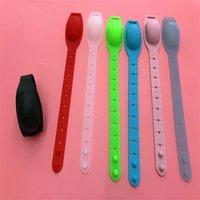 Squeeze pulsera de silicona desinfectante de mano de la botella de líquido pulseras dispensador de jabón de baño portable de la manera pulsera de aerosol 2 G2 5yy