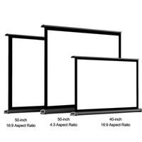 شاشات الإسقاط 40 بوصة 50 بوصة شاشة العرض 16: 9 مشروع مسرح منزلي طوي طوي ل DLP / يده