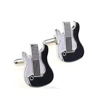Abotoaduras de guitarra Enamel Cufflinks Mens Moda Acessórios Mens Presentes Cuff-Links Num55