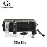 100% Original G9 GreenLightVapes Kit GDIP Cera Dap Caneta 1000mAh Bateria e Superaquecimento Proteção com 2 Pontas VAPER W2 W3 Genuine